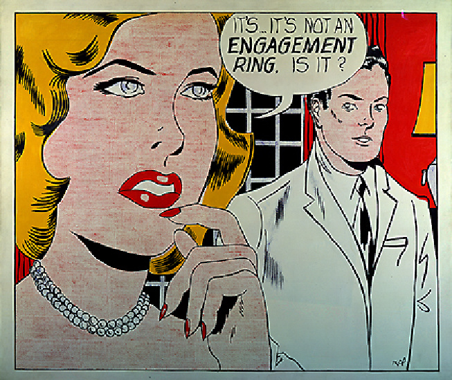 famous painting Engagement of Roy Lichtenstein