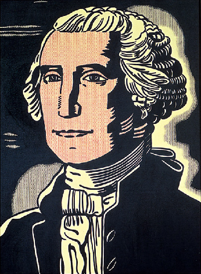 famous painting George Washington of Roy Lichtenstein