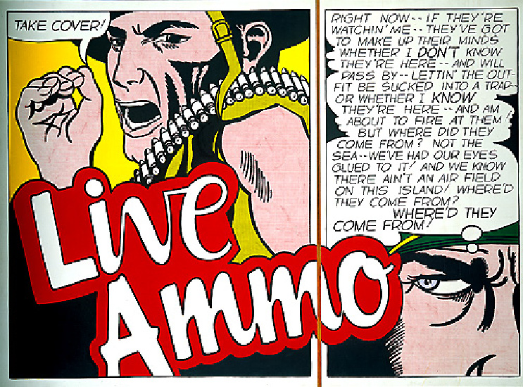 famous painting Live ammo of Roy Lichtenstein