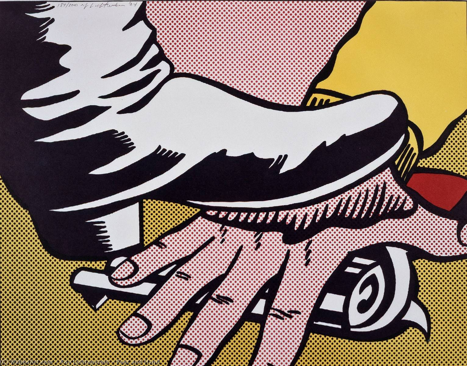famous painting Foot and Hand of Roy Lichtenstein
