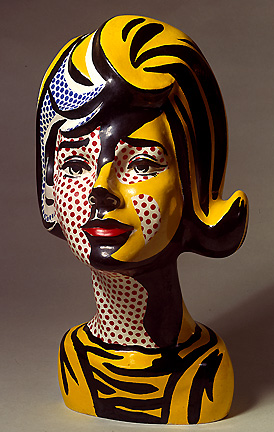 famous painting Head red shadow of Roy Lichtenstein