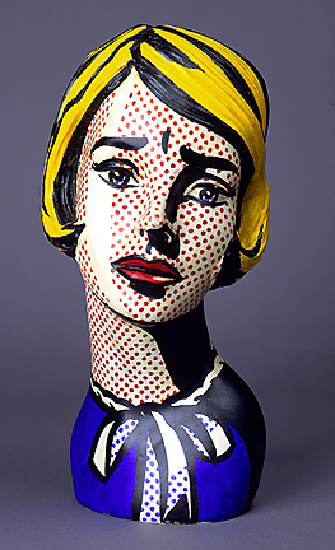 famous painting Head of Roy Lichtenstein