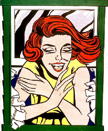 famous painting Mural of Roy Lichtenstein