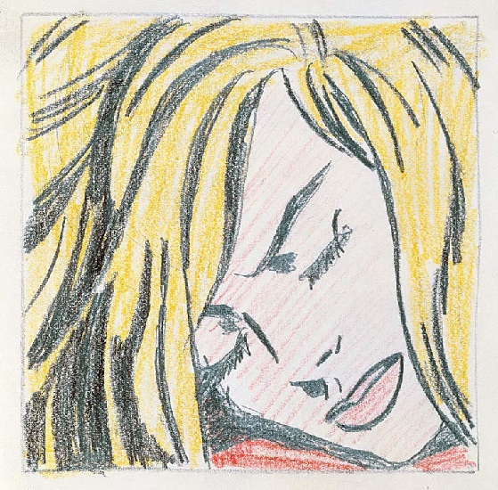 famous painting Sleeping Girl of Roy Lichtenstein