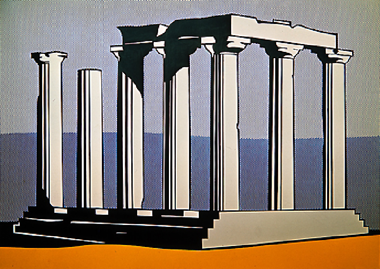 famous painting Temple of apollo of Roy Lichtenstein