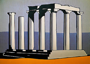 Roy Lichtenstein - Temple of apollo