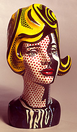 famous painting Head black shadow of Roy Lichtenstein