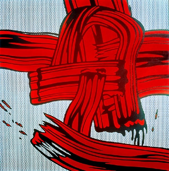 famous painting Red Painting (Brushstroke) of Roy Lichtenstein