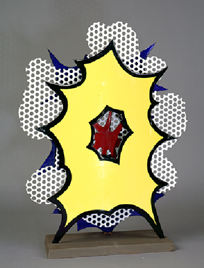 famous painting Small explosion of Roy Lichtenstein