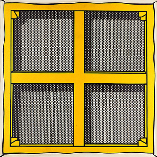 famous painting Stretcher Frame with Cross Bars III of Roy Lichtenstein
