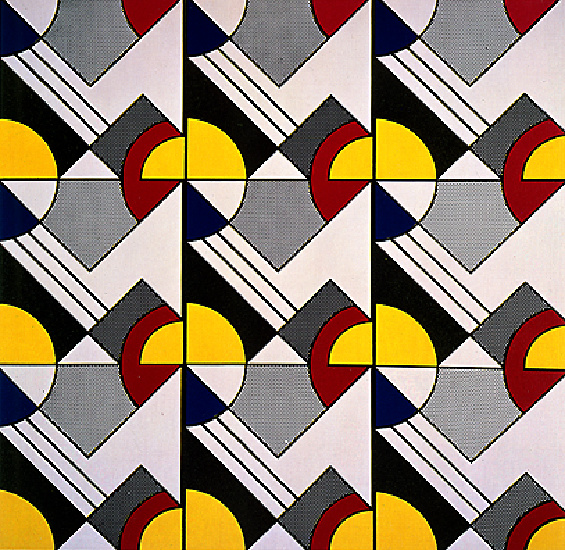 Order Art Reproductions Pop Art : Modular Painting with Nine Panels by Roy Lichtenstein | BuyPopArt.com