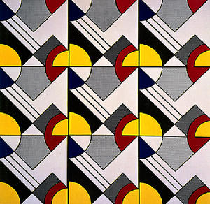 Roy Lichtenstein - Modular Painting with Nine Panels