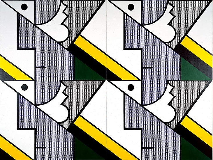 famous painting Modular Painting with Four Panels 8 of Roy Lichtenstein