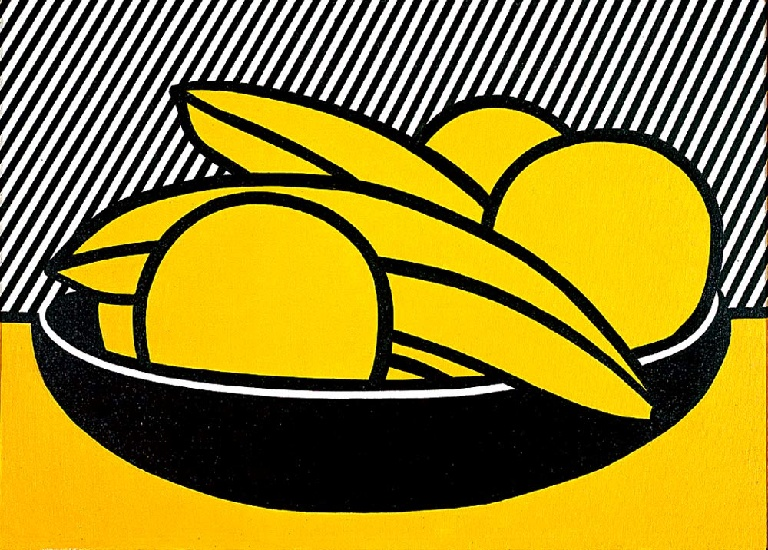 famous painting Bananas and Grapefruit of Roy Lichtenstein