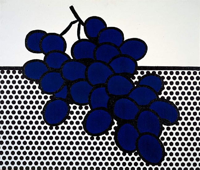 famous painting Blue Grapes of Roy Lichtenstein