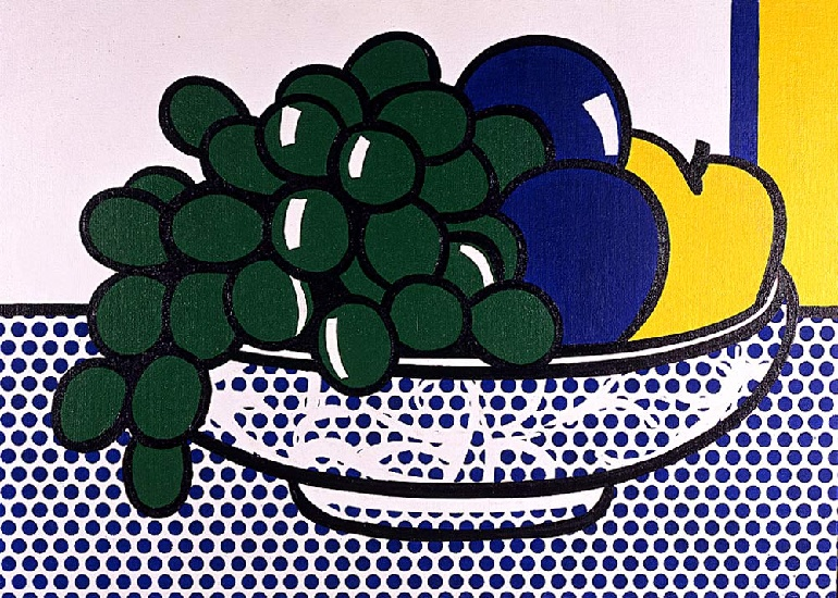 famous painting Still Life with Plums of Roy Lichtenstein