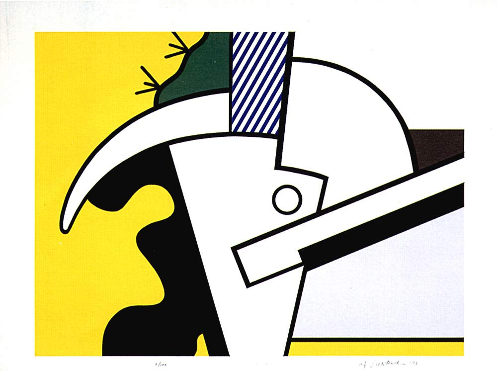 famous painting Bull Head II of Roy Lichtenstein