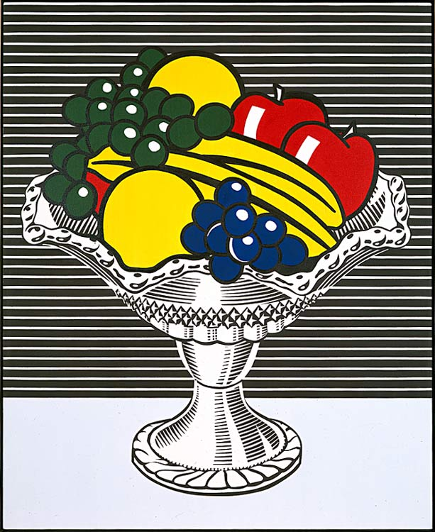 famous painting Still Life with Crystal Bowl of Roy Lichtenstein