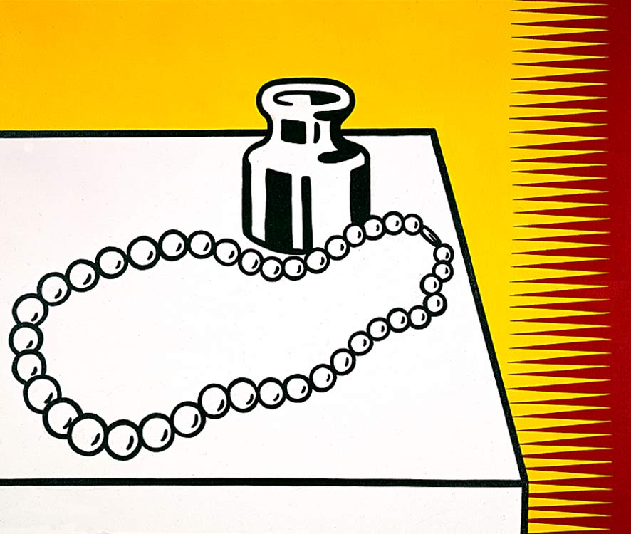 famous painting Still Life with Pearls of Roy Lichtenstein