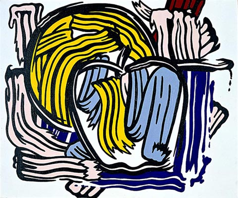 famous painting Apple and Grapefruit of Roy Lichtenstein