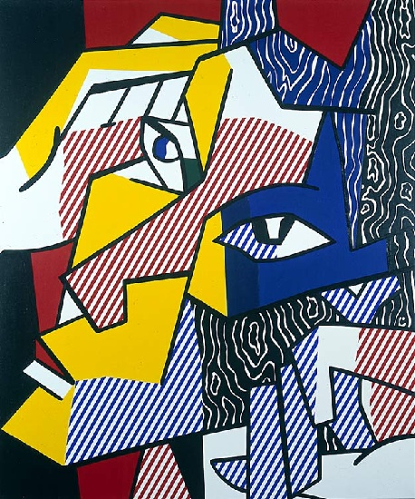 famous painting Expressionist Head 2 of Roy Lichtenstein