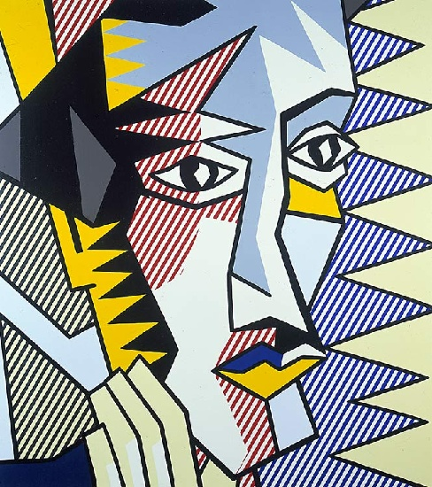 famous painting Expressionist Head 3 of Roy Lichtenstein