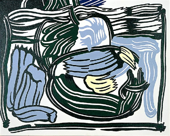 famous painting Two Green Apples of Roy Lichtenstein