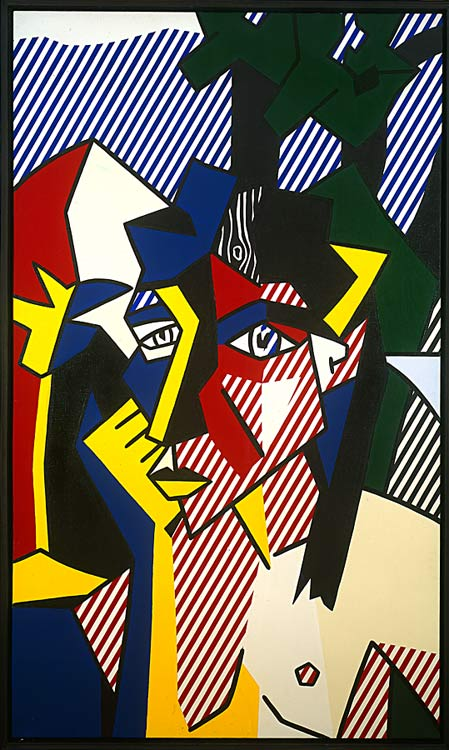 famous painting Woman in Landscape of Roy Lichtenstein