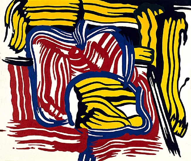 famous painting Lemon and Apple of Roy Lichtenstein