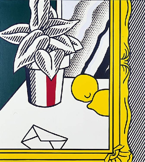 famous painting Painting (Still Life With Envelope) of Roy Lichtenstein