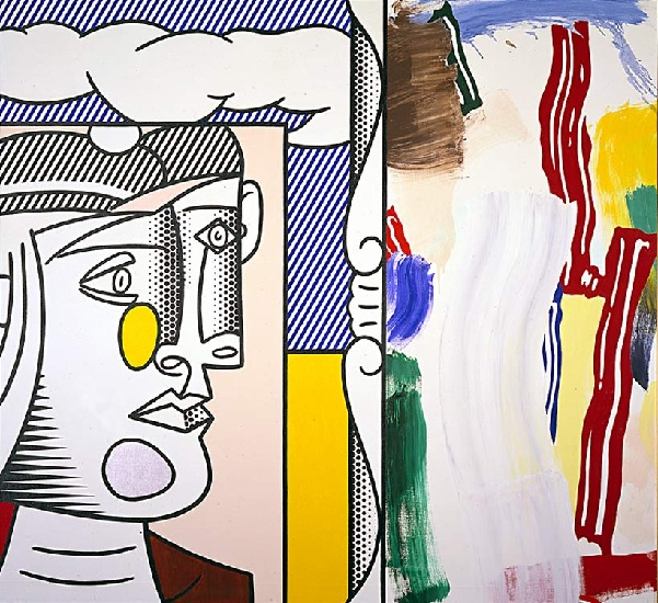famous painting Picasso head of Roy Lichtenstein