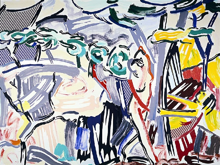 famous painting Figures in Landscape of Roy Lichtenstein