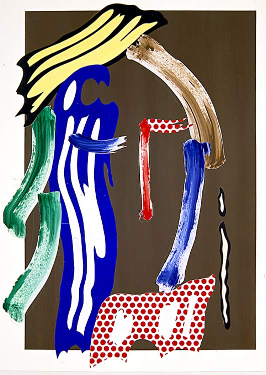famous painting Brushstroke Head (untitled) (1986) of Roy Lichtenstein