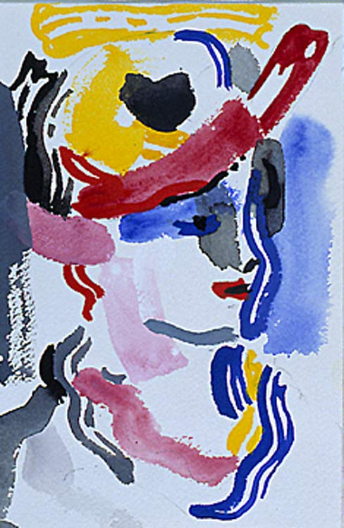 | Woman with Hat (untitled) (1986) by Roy Lichtenstein | BuyPopArt.com