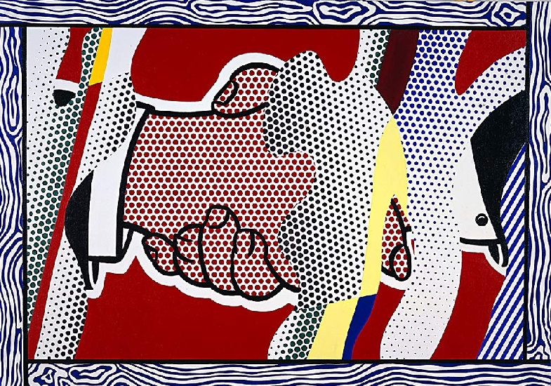 famous painting Reflections Handshake of Roy Lichtenstein
