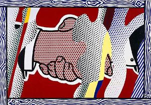 Roy Lichtenstein - Reflections Handshake