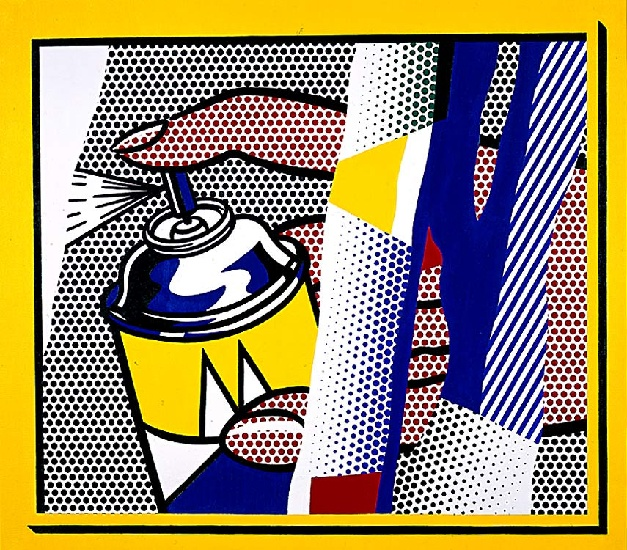 famous painting Reflections Spray II of Roy Lichtenstein