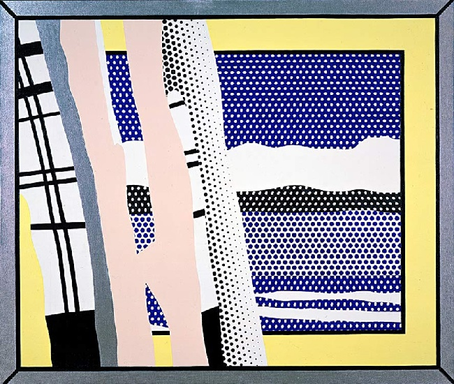 famous painting Reflections Untitled (1988) of Roy Lichtenstein