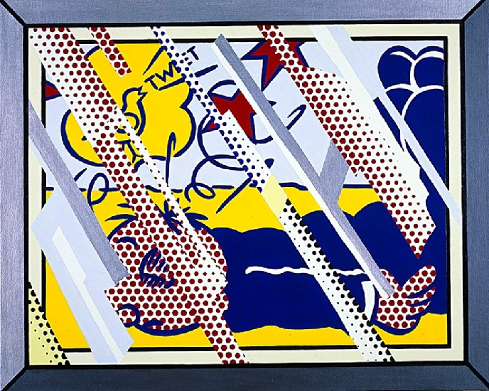 famous painting Reflections Wimpy II of Roy Lichtenstein