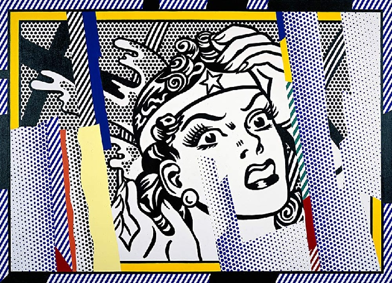 famous painting Reflections Wonder Woman of Roy Lichtenstein