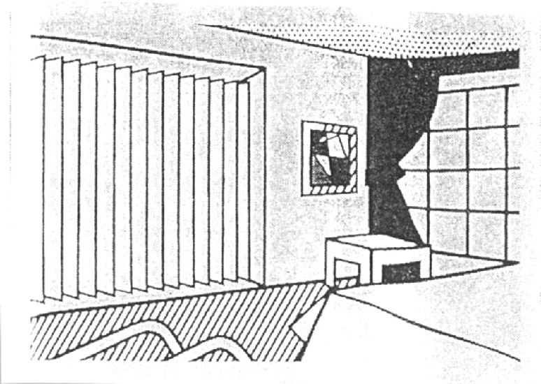 | Bedroom (unique state) by Roy Lichtenstein | BuyPopArt.com