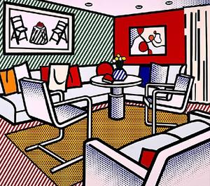 Roy Lichtenstein - Interior with Red Wall