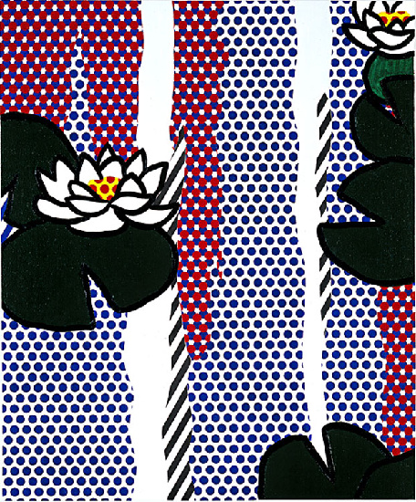 famous painting Water Lilies of Roy Lichtenstein