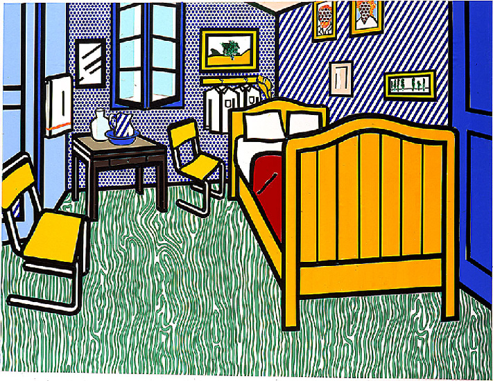 famous painting Bedroom at Arles of Roy Lichtenstein