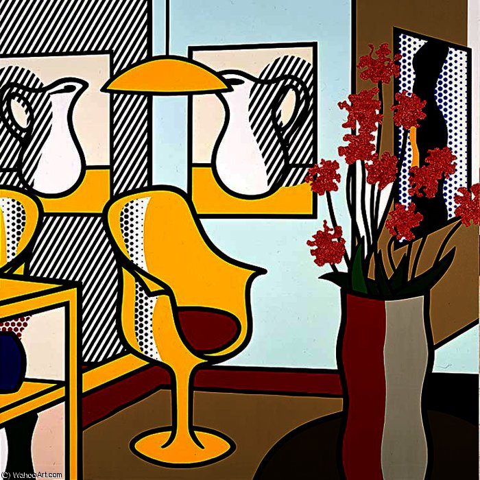 | Interior with Yellow Chair by Roy Lichtenstein | BuyPopArt.com