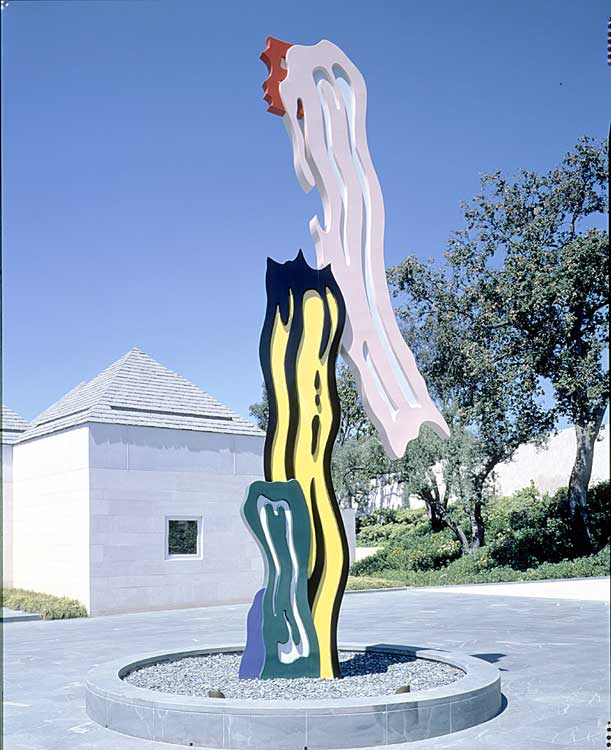 famous painting Knapp Brushstroke Sculpture of Roy Lichtenstein
