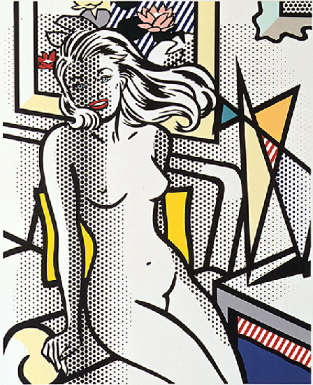 famous painting Nude with Yellow Pillow of Roy Lichtenstein