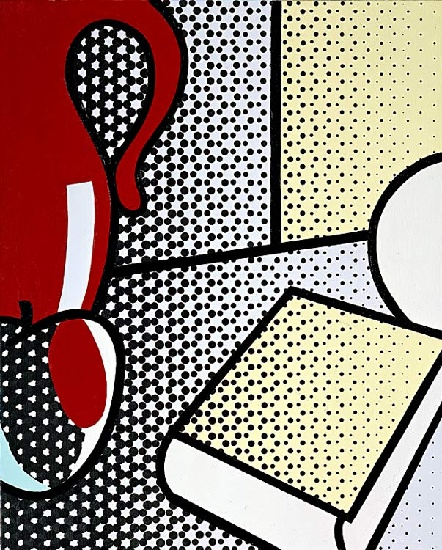 famous painting Still Life with Red Pitcher of Roy Lichtenstein