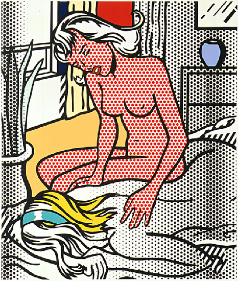 famous painting Two Nudes of Roy Lichtenstein