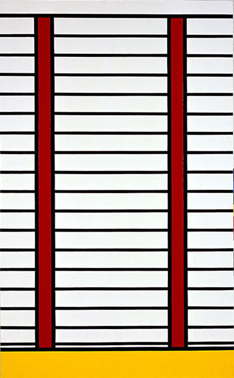 famous painting Venetian Blinds of Roy Lichtenstein